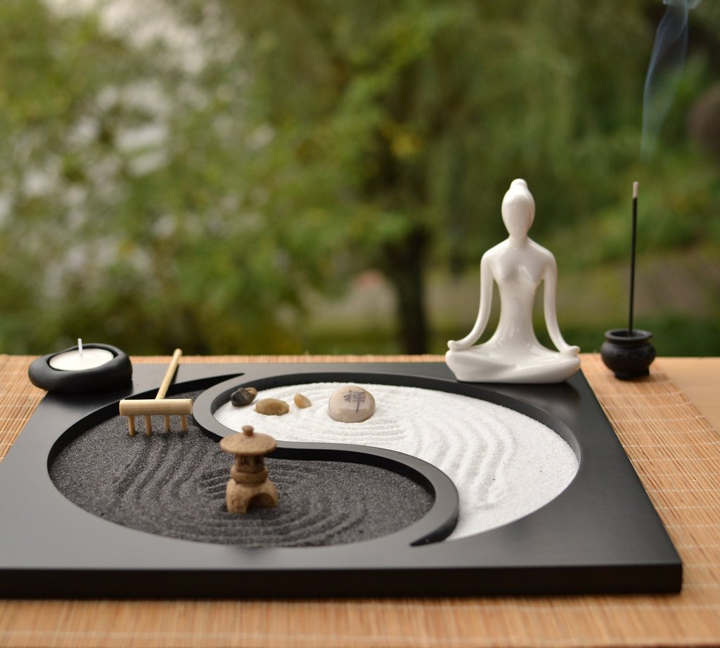 zen-garden-the-exhibition-art-decoration-zen-garden-landscape-this-set-includes-buddha-base-plate-sand-rake-incense-burner-and-stone-choice-of-black-or-white-buddha-material-wood-ceramic